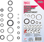 Assortimento di O-ring, 225 pezzi, 3-22 mm Ø