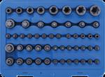 Serie di inserti e bussole profilo a E / profilo a T (per Torx) / profilo a T (per Torx) con alesatura / profilo a TP (per Torx Plus) 52 pz