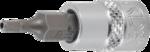 Serie di chiavi a bussola 6,3 mm (1/4) esagono interno con foro 2 - 7 mm 8 pz