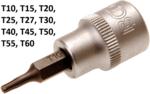 Chiave a bussola 10 mm (3/8) profilo a T (per Torx)