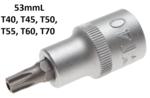 Chiave a bussola 12,5 mm (1/2) profilo a T (per Torx) con alesatura
