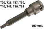 Chiave a bussola lunghezza 100mm (1/2) profilo a T (per Torx)