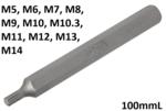 Inserto lunghezza 100 mmL attacco esagono esterno (3/8) profilo a cuneo (per RIBE)