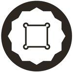Bussola poligonale, profonda (3/4) 17-39mm