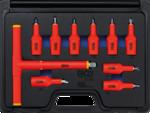 Serie di chiavi a bussola per elettricisti 12,5 mm (1/2) profilo a T (per Torx) T20 - T55 10 pz