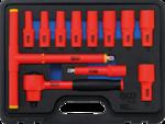 Set di chiavi fisse VDE azionamento 10 mm (3/8) SW 7 - 22 mm 12-dlg