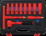 Serie di bussole per elettricisti 12,5 mm (1/2) 10 - 24 mm 11 pz