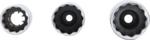 Set di chiavi per candele di accensione a 12 lati 3/8, 14 - 16 - 18mm 3-dlg