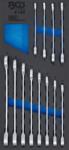 Modulo per carrelli portautensili 1/3: serie di chiavi combinate a cricchetto 8 - 19mm 12 pz