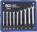 Serie di chiavi combinate anello-forchetta 4 - 10 mm 9 pz