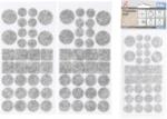 Set di alianti in feltro grigio melange 64 pezzi