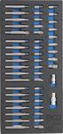 Carrello portautensili apprendista 4 cassetti con 151 utensili