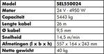 Argano 24V, 5443kg 4,95kw 26m IP68