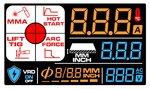 Inverter elettrodo lcd 220a 230v + accessori