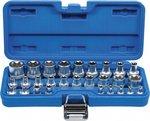 Serie di bussole profilo E 6,3 mm 1/4 / 12,5 mm (1/2) E4 - E24 28 pz