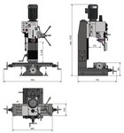 Trapano fresatrice 450x200x430