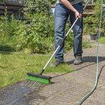 Scopa per l'acqua con attacco per tubo da giardino
