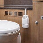Spazzola per la toilette compatta
