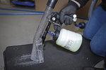 Pistola pneumatica per pulizia con attacco per spazzole e aspiratore 7 pz