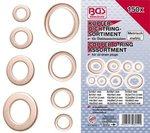 Assortimento di anelli di tenuta in rame 150 pezzi
