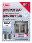 Lima diamantata dritta 140 x 3 mm 10 pezzi