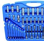 Set chiavi a tubo esagonale 6,3 mm (1/4) / 10 mm (3/8) / 12,5 mm (1/2) 213 pezzi