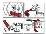 Tubo flessibile per ventilatore - 300mm