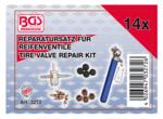 Kit di riparazione per valvole per pneumatici 14 pezzi
