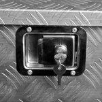 Cassetta degli attrezzi in alluminio per rimorchio 700/380 x 240 x 240 x H420mm