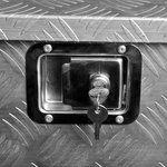Cassetta degli attrezzi in alluminio per rimorchio 830/540 x 360 x H490mm
