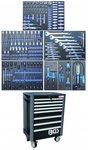 Carrello portautensili, 8 cassetti 237 pezzi set di 237 pezzi