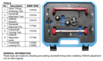 Kit di regolazione motore per BMW S54 8 pezzi