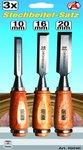 Set per acciaio a innesto in 3 parti 10-16-20 mm