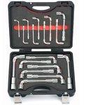 Set di chiavi a gancio per tubi 17 pezzi