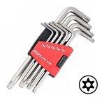 Set di chiavi angolari Resistorx lungo 9 pezzi