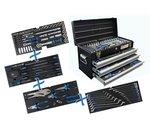 Cassetta degli attrezzi in metallo 3 cassetti con 143 utensili