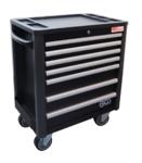 Carrello officina 7 cassetti altezza totale extra bassa con 209 utensili