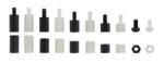 Viti distanziali e gamma di dadi esagonali Nylon 300 pezzi