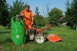 Serbatoio benzina verde 110 litri, pompa manuale