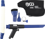 Pistola di aspirazione/soffiaggio aria compressa commutabile in 9 pezzi