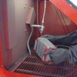 Cabina di sabbiatura 350 litri