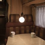 Lampada retrò XL motivo legno con cordoncino 90cm