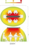 Riscaldatore radiante a infrarossi senza luce hot top 3200W