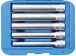 Set di inserimento chiave a tubo esagonale, esagonale, extra profondo drive in quadrato 10 mm (3/8) 8 14 mm 5 pz