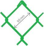 Harmonica Accordo PVC verde Ral 6005 50x2,7 x 125 cm