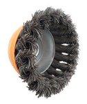 Spazzola d'acciaio a forma di ciotola con diametro ritorto 100mm