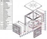 Ventola di raffreddamento industriale fissa 18000m 3/h