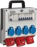 Distributore a parete 4/32 IP44 4x LS 230V/16 A, 1xLS 400V/16 A, 1xFI 40 A a 4 poli 30mA