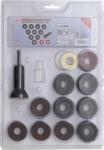 Kit smerigliatrice per bulloni toracici e dadi ruota 14 pz