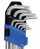 Set di chiavi a T extra lunghe (per Torx) T10 - T50 9 pezzi_